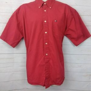 Tommy Hilfiger Red Button Down Short Sleeve XL